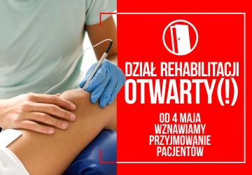 Kolejna dobra informacja dla pacjentów wymagających rehabilitacji!